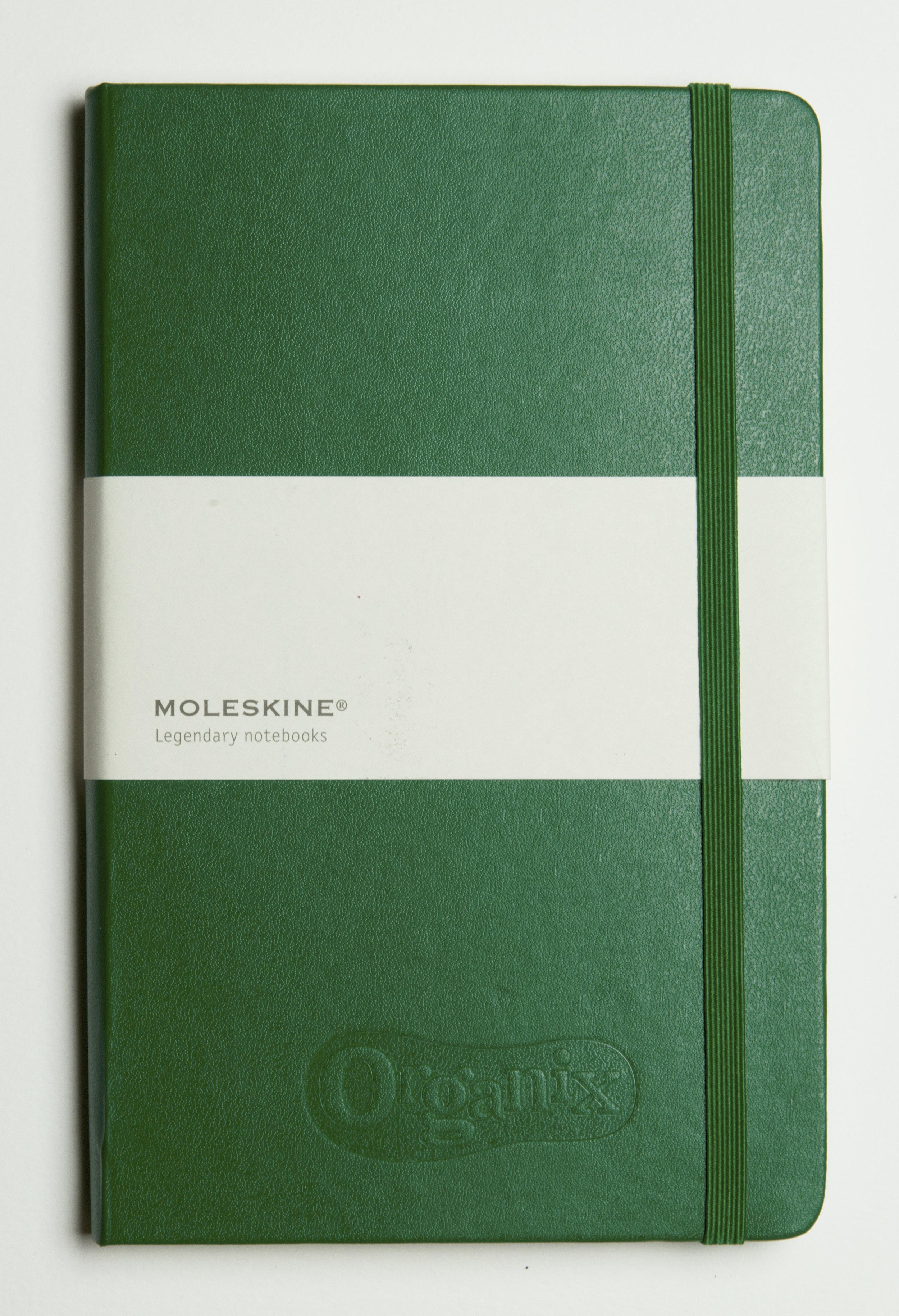 blind debossed notebook