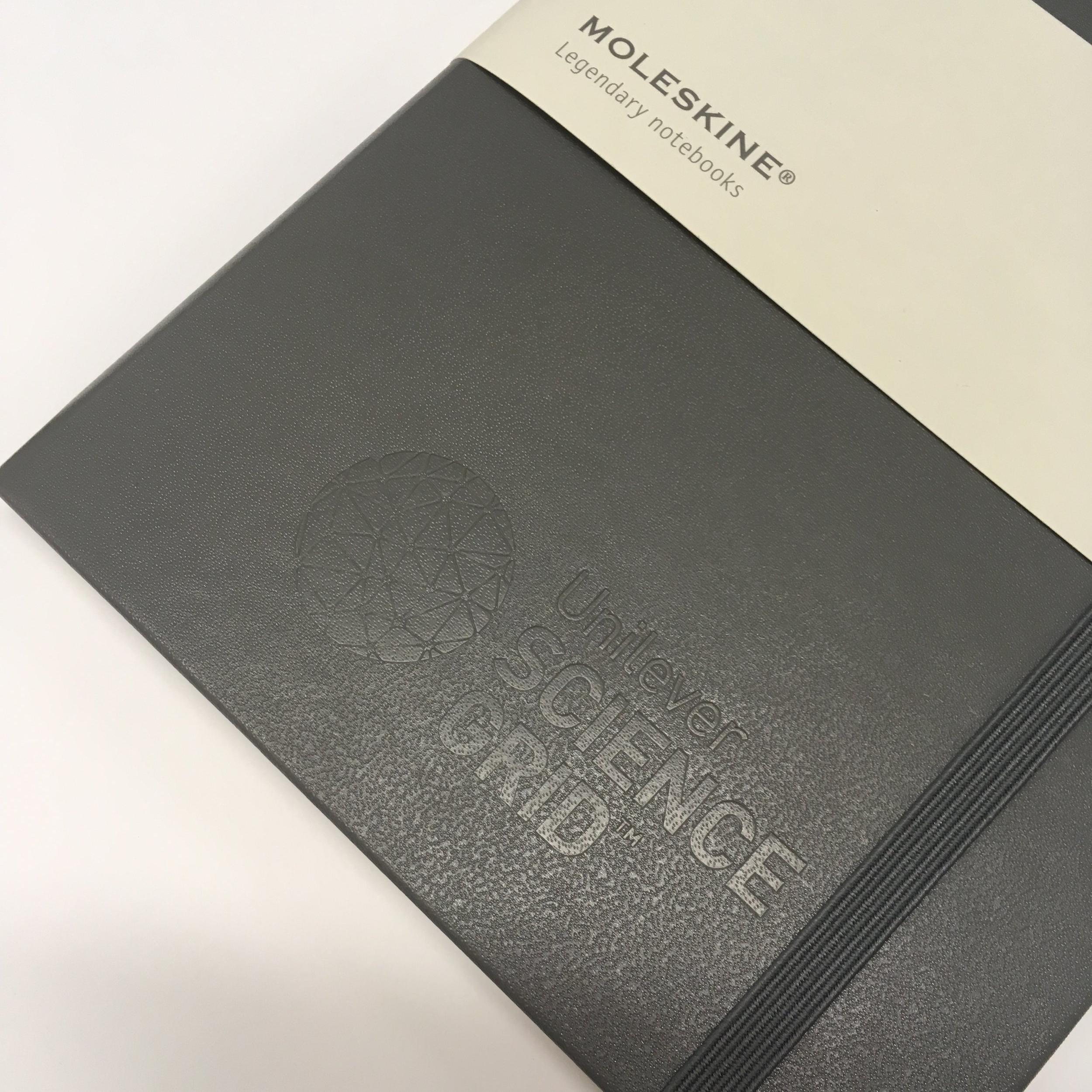 hard cover notebook debossed