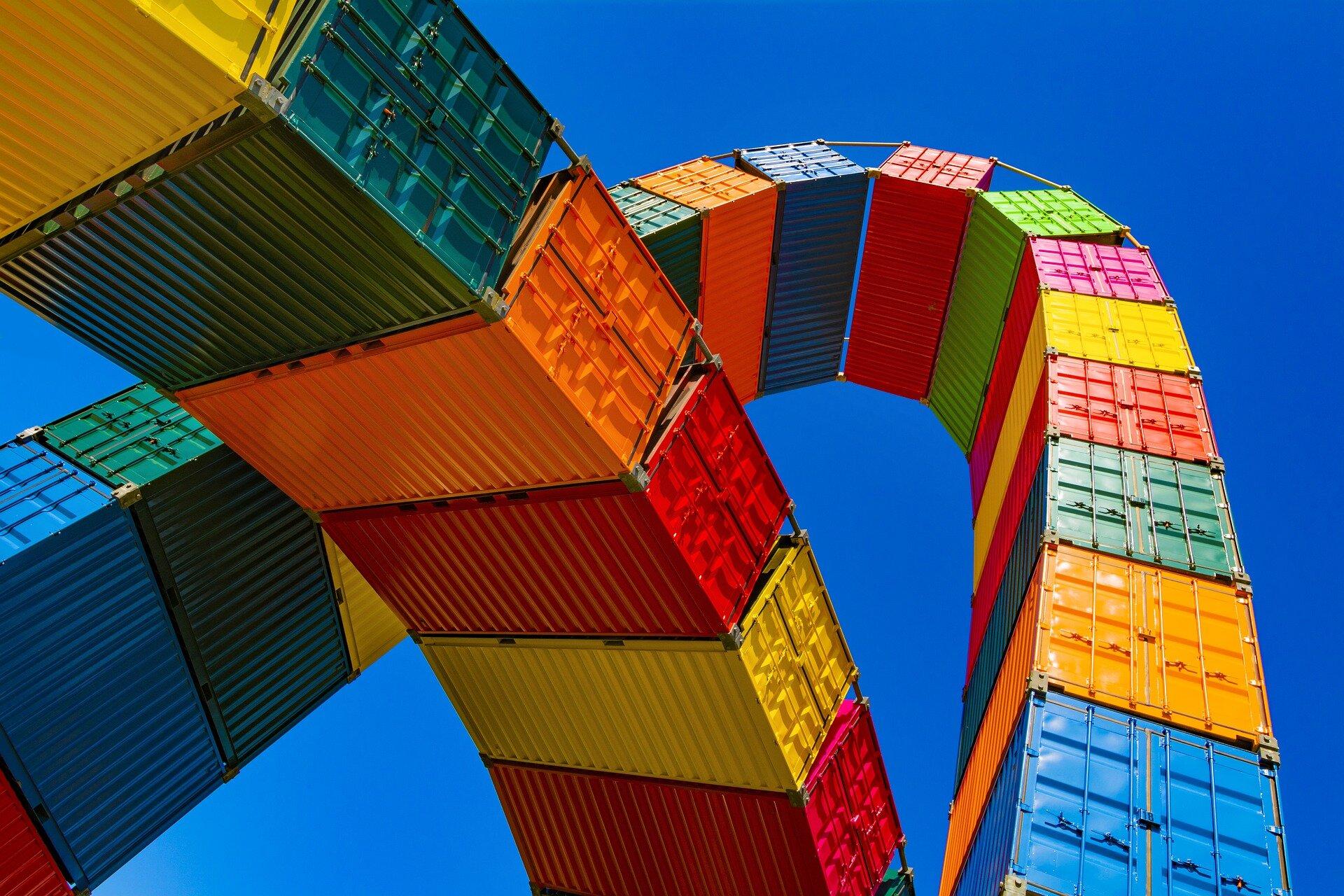 Catène de containers