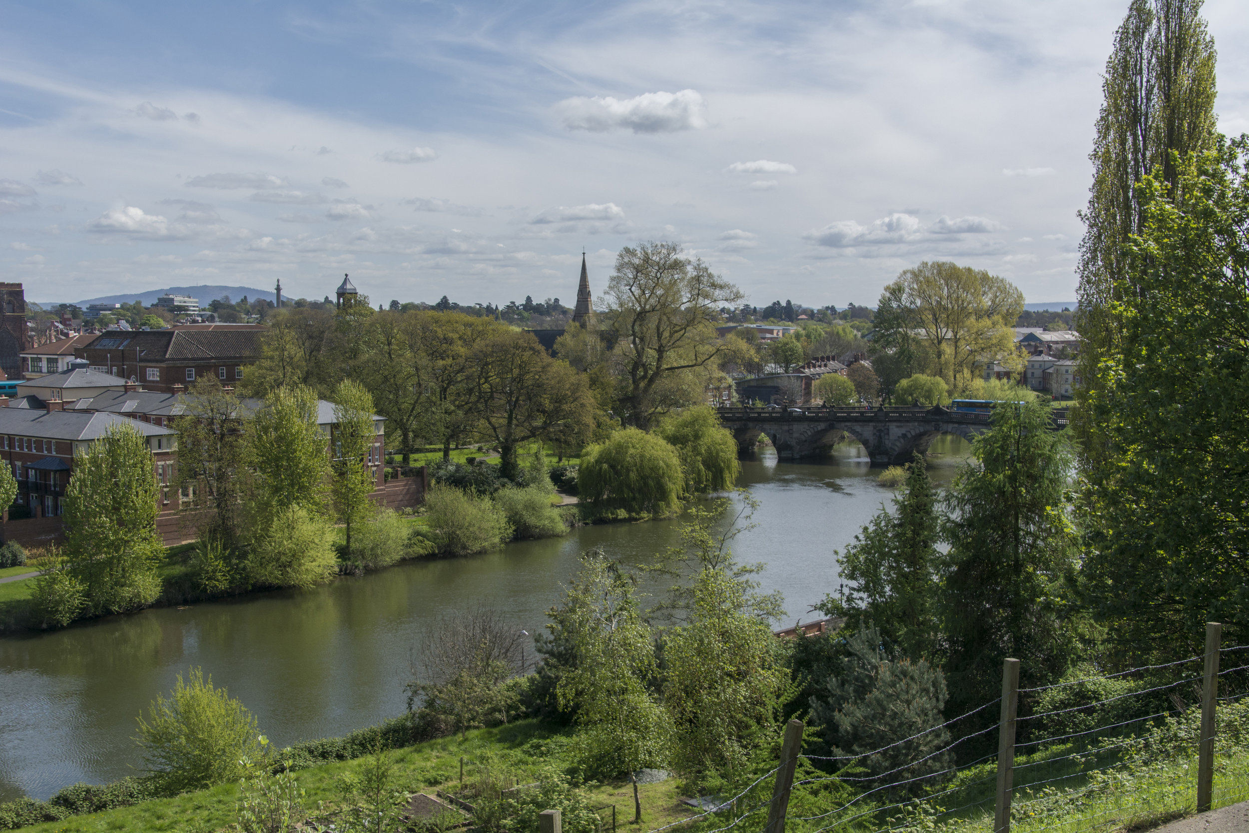 The stunning view from our 36 seater terrace. Hard to imagine the peacefulness in a bustling town centre.