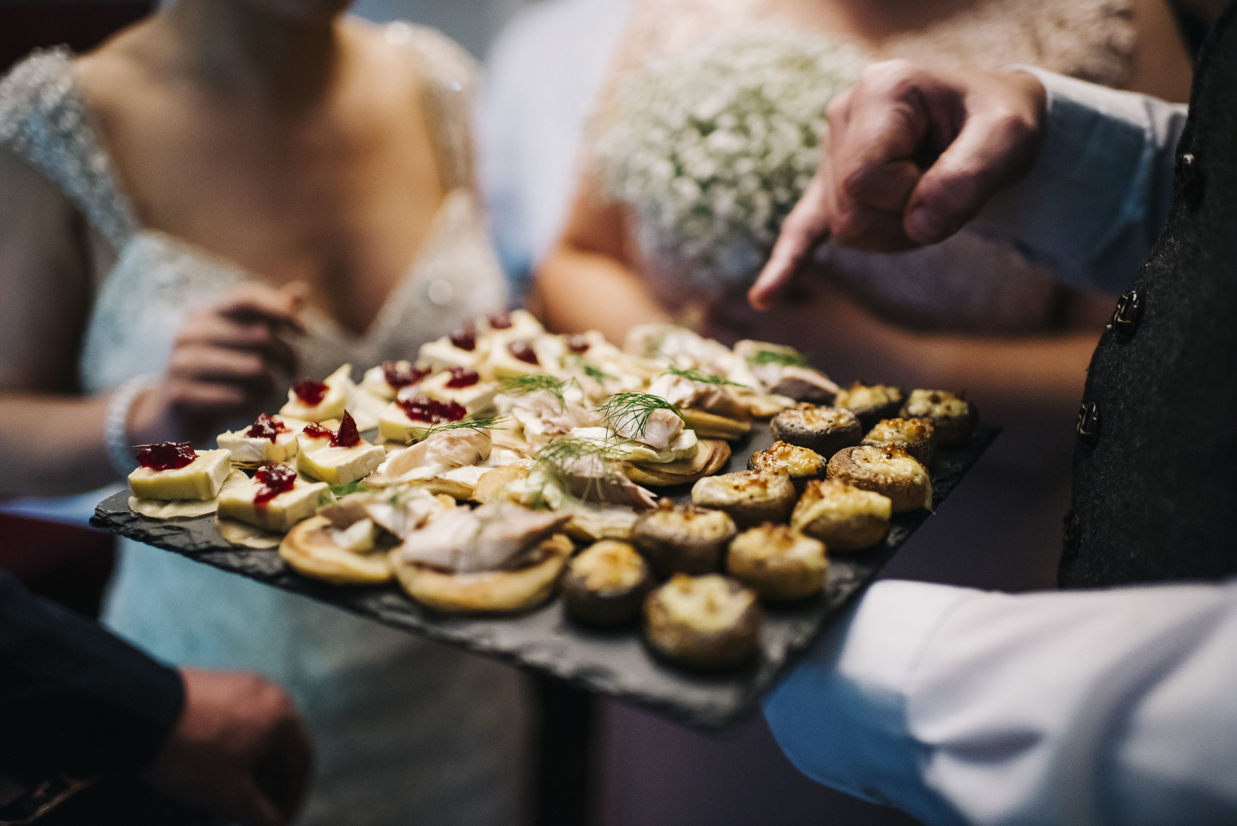 Sweet & savoury canapés - Add canapés to your wedding for as little as £1.50 per person.