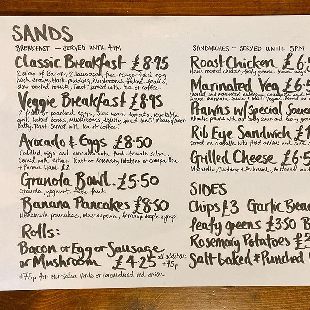 Autumn Daily Menu From 8.30am everyday
