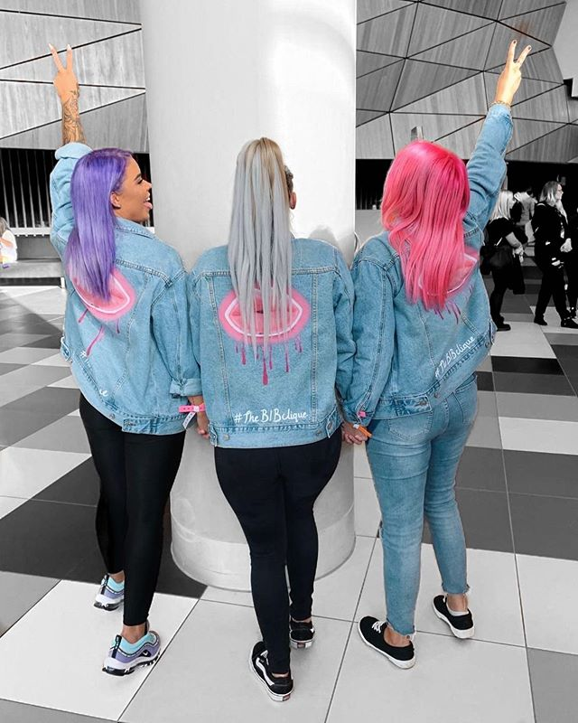 How cute does #thebibclique look!? 💜💙💖 we are now able to produce quantity thanks to the team over @shiftyapparel ! Thanks again for your help with these ones guys 💯 #boneyardarmy