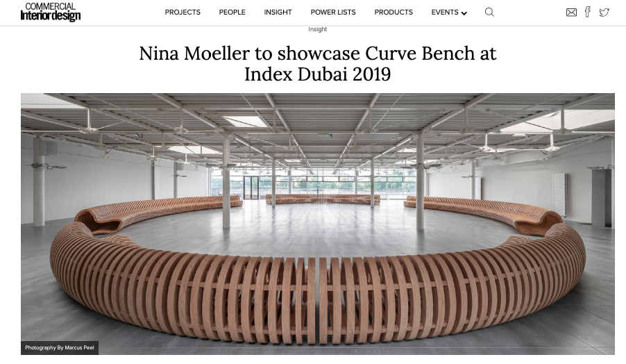 "Commercial Interior Design - ""Boutique design practice Nina Moeller Design will showcase one of its latest products at interiors trade show Index Dubai this month.Curve Bench is one of London-based designer Nina Moeller's newest pieces, designed with flexibility, space and community in mind.""Read More >"