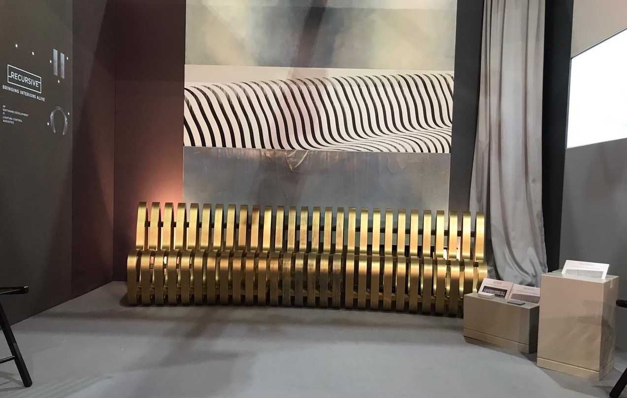 CURVE Bench in Metal at INDEX Dubai 2019