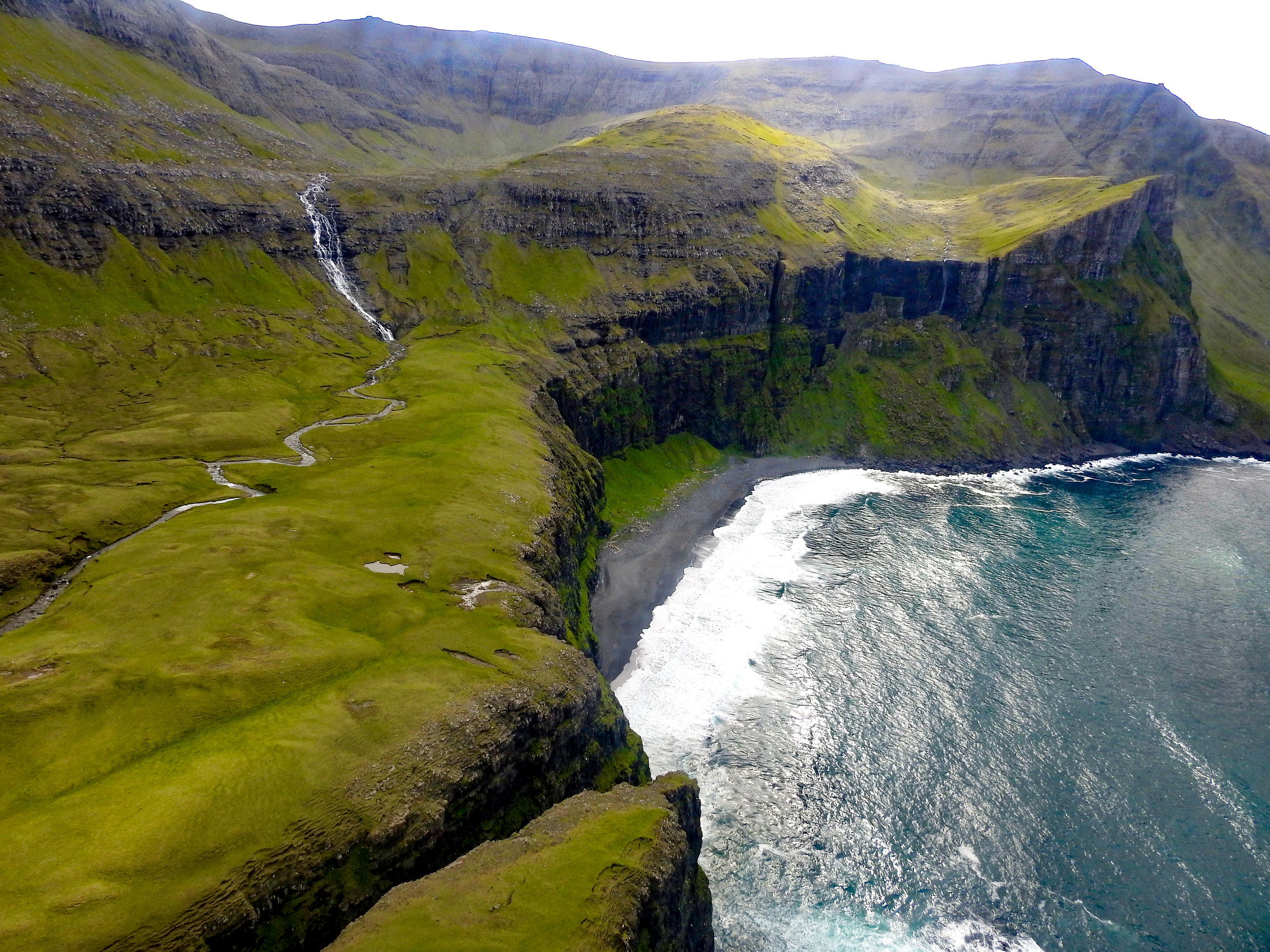 Aerial shots of the Faroes