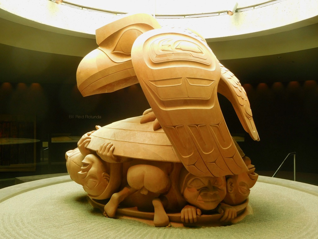 Bill Reid's wood carving depicting the Haida myth of creation. © Erik Brown 2017