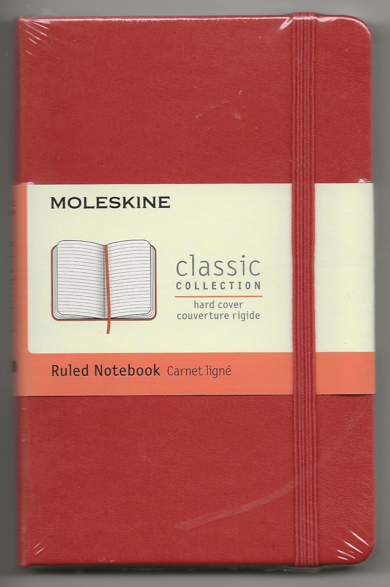 My favourite - a Moleskine classic like the ones used by Ernest Hemingway and Pablo Picasso.