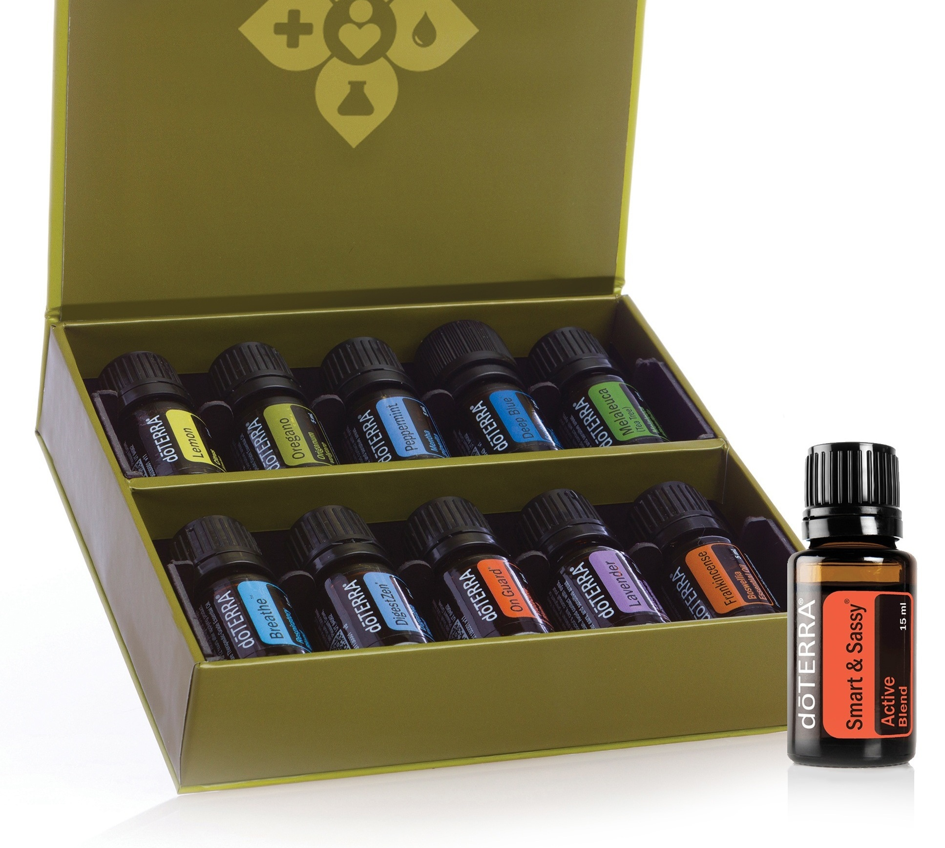 Family Essentials Kit - The 'small bottle' kit. Top 10 essential oils for every home plus the metabolic blend Smart & Sassy.$174