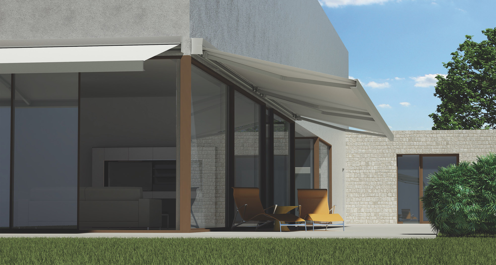 OutSIDe LIVING    AWnings    VIew MORE