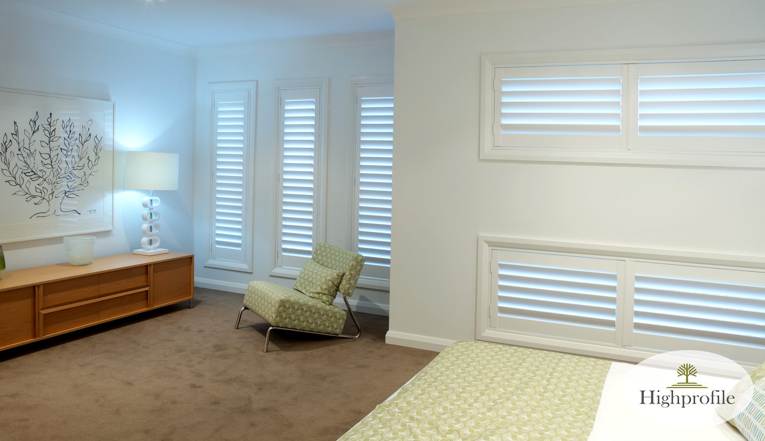 HINGED SHUTTERS - PAINTED WHITE