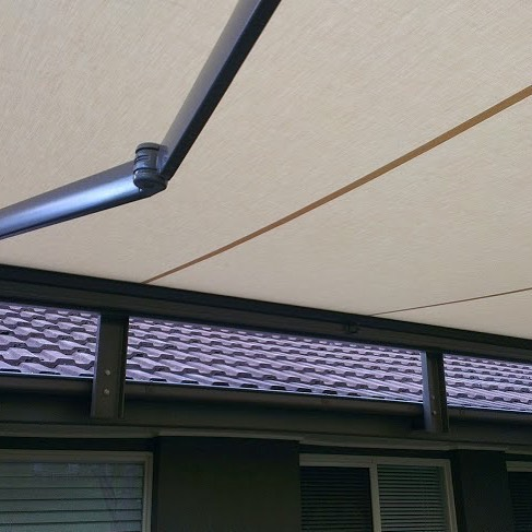 BX260 full cassette folding arm Awning - reverse facia rafter bracket installation