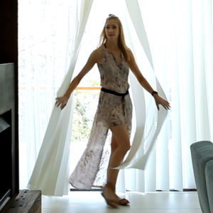 Veri Shades® - Everyone loves curtains, they're elegant, soft, and stylish – but they're either open or closed.Veri Shades have the feel of curtains with the versatility of blinds.The soft fabric hangs beautifully. There are no weights or chains so you can walk through them anywhere, whether they're opened or closed – they just sway out of the way and settle back perfectly. This makes them perfect for creating a soft feature across a large opening. Veri Shades can span up to six metres.