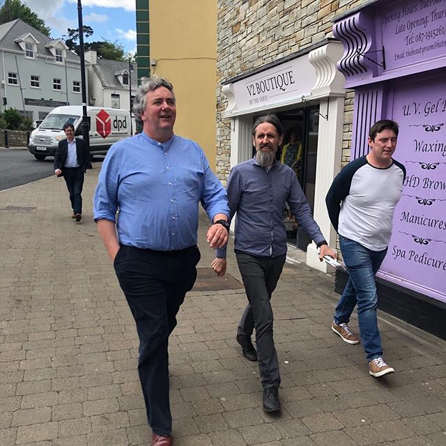 Just finished in Ardara now heading to Ballyshannon followed by Bundoran. #EuroMing2019 #TakingTheJobSeriously