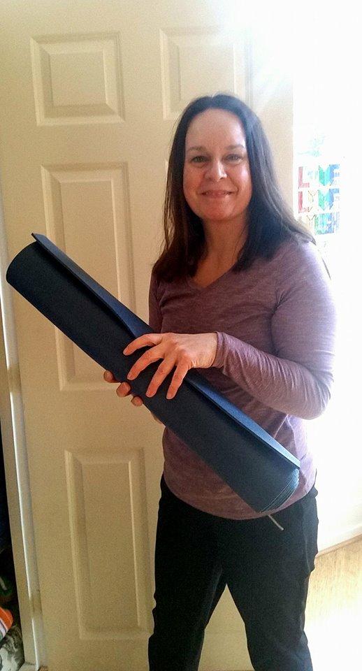 Jo Stewart sets up for Pilates!
