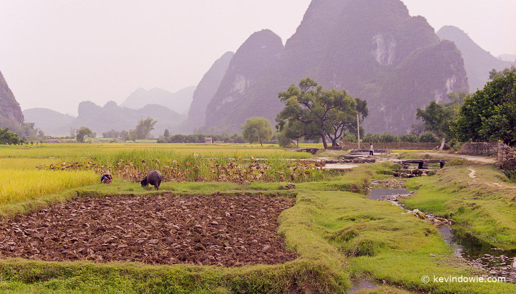 Ploughed field, Guangxi Provence, China