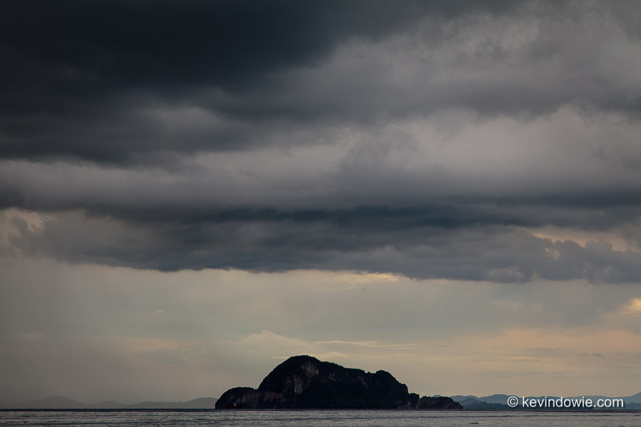 Storm clouds over Andaman Sea, Thailand.