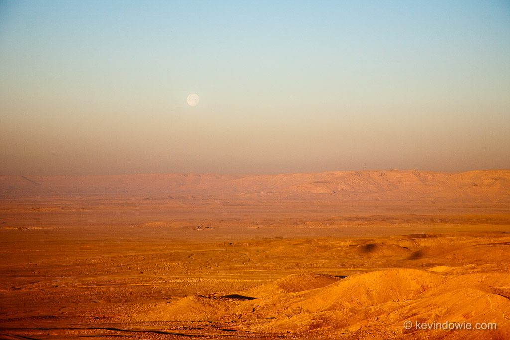 Full moon over Valley of the Queens, Luxor, Egypt