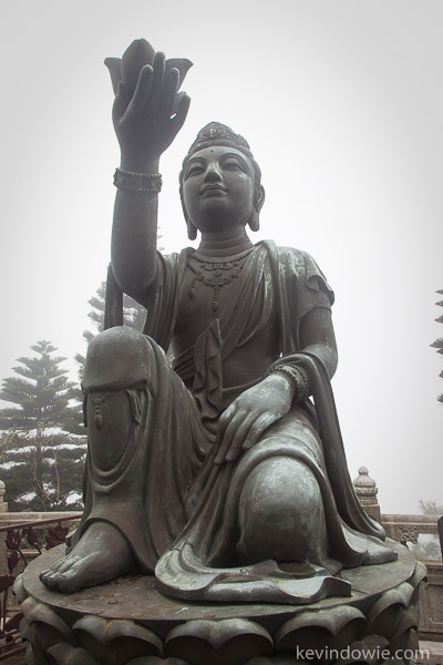 Smaller buddha at the foot of the Giant.