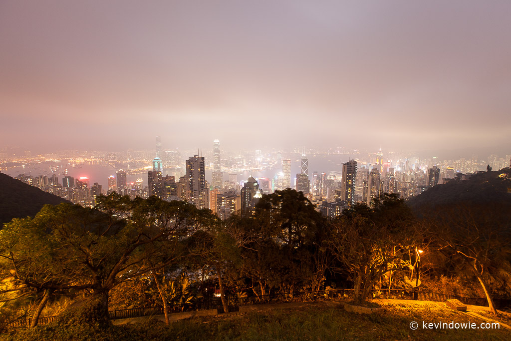 Hong Kong by night panorama