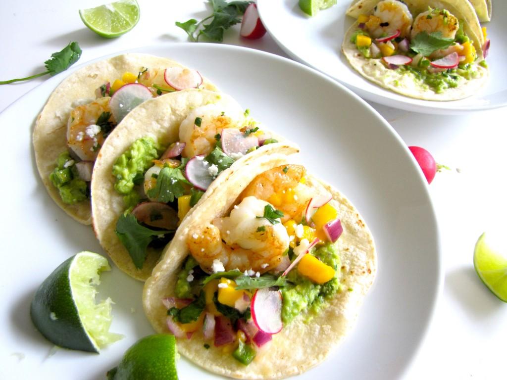 Shrimp Tacos with Mango Salsa, tacos,mexican recipe, healthy mexican recipe, gluten-free, gluten-free recipe, healthy recipe, recipes, seafood, shrimp recipe, shrimp, mango salsa