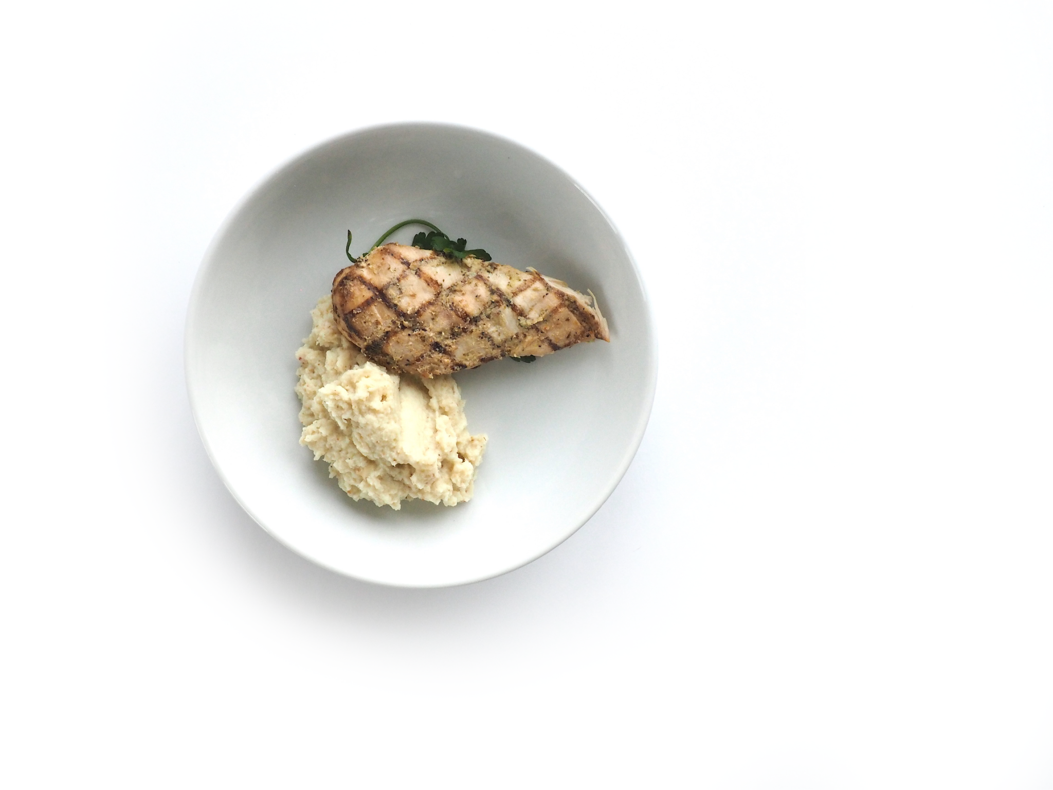 Grilled Chicken with Cauliflower Mash 4