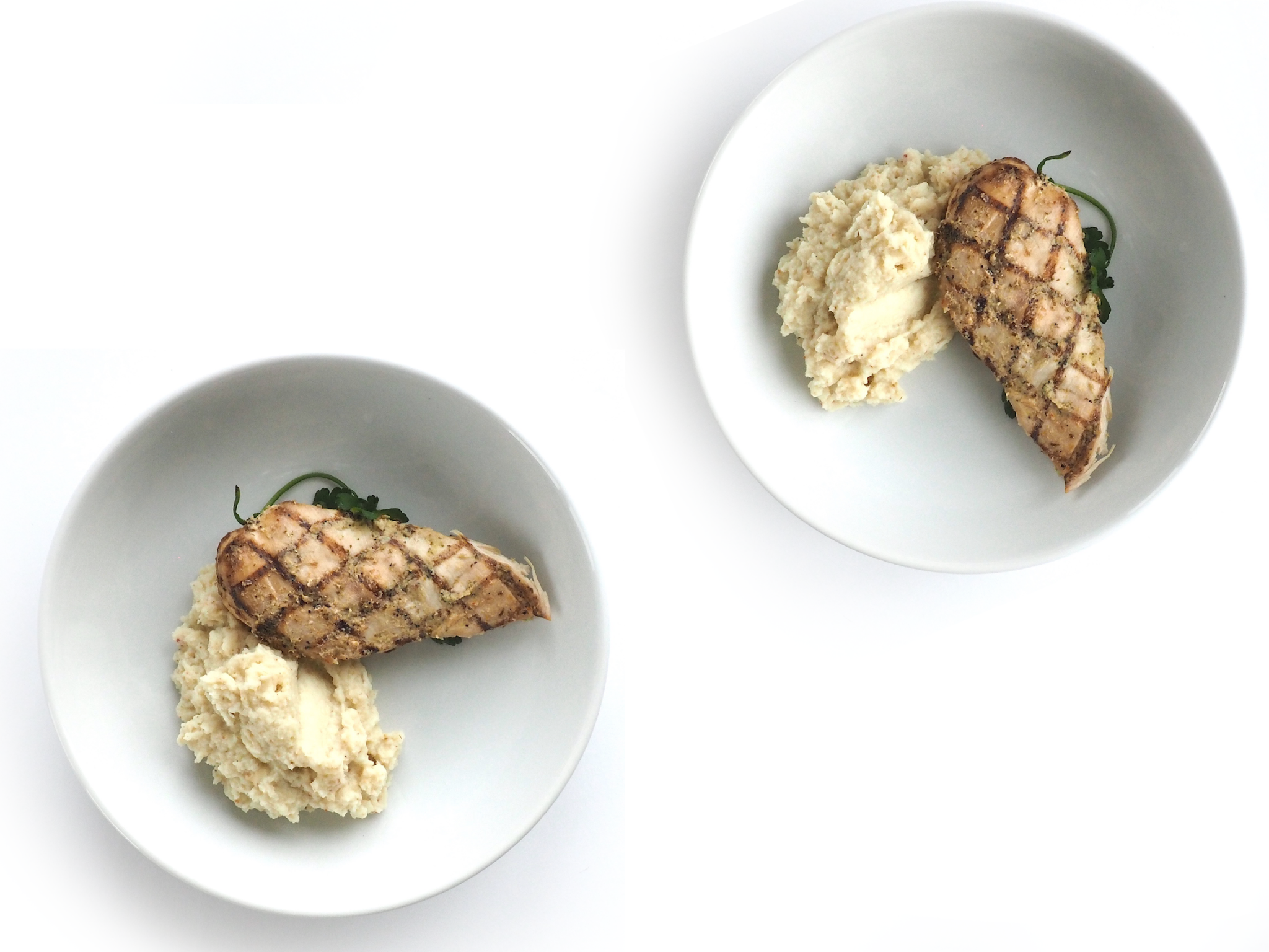 Grilled Chicken with Cauliflower Mash 6