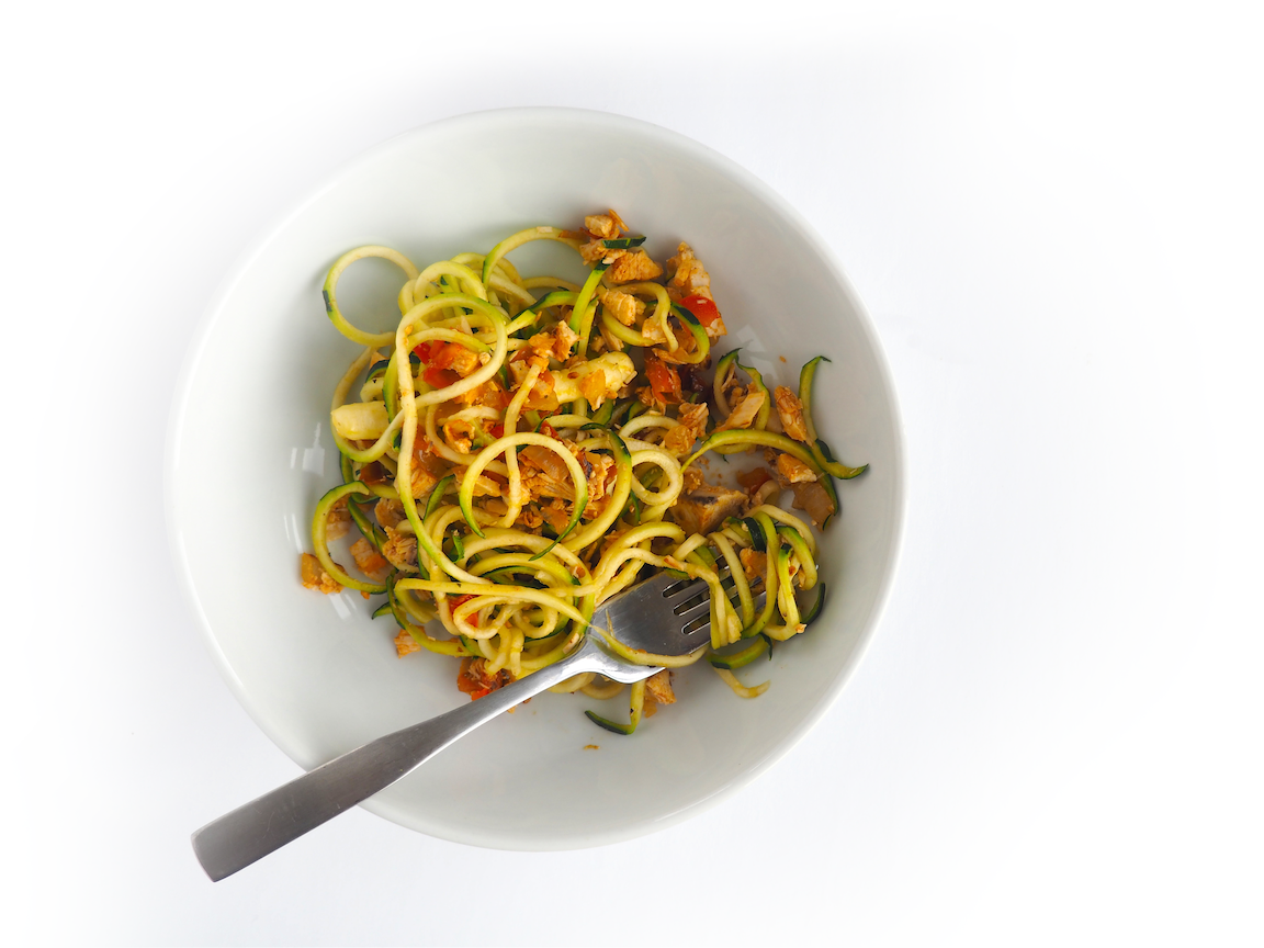 zoodles with chicken sofrito