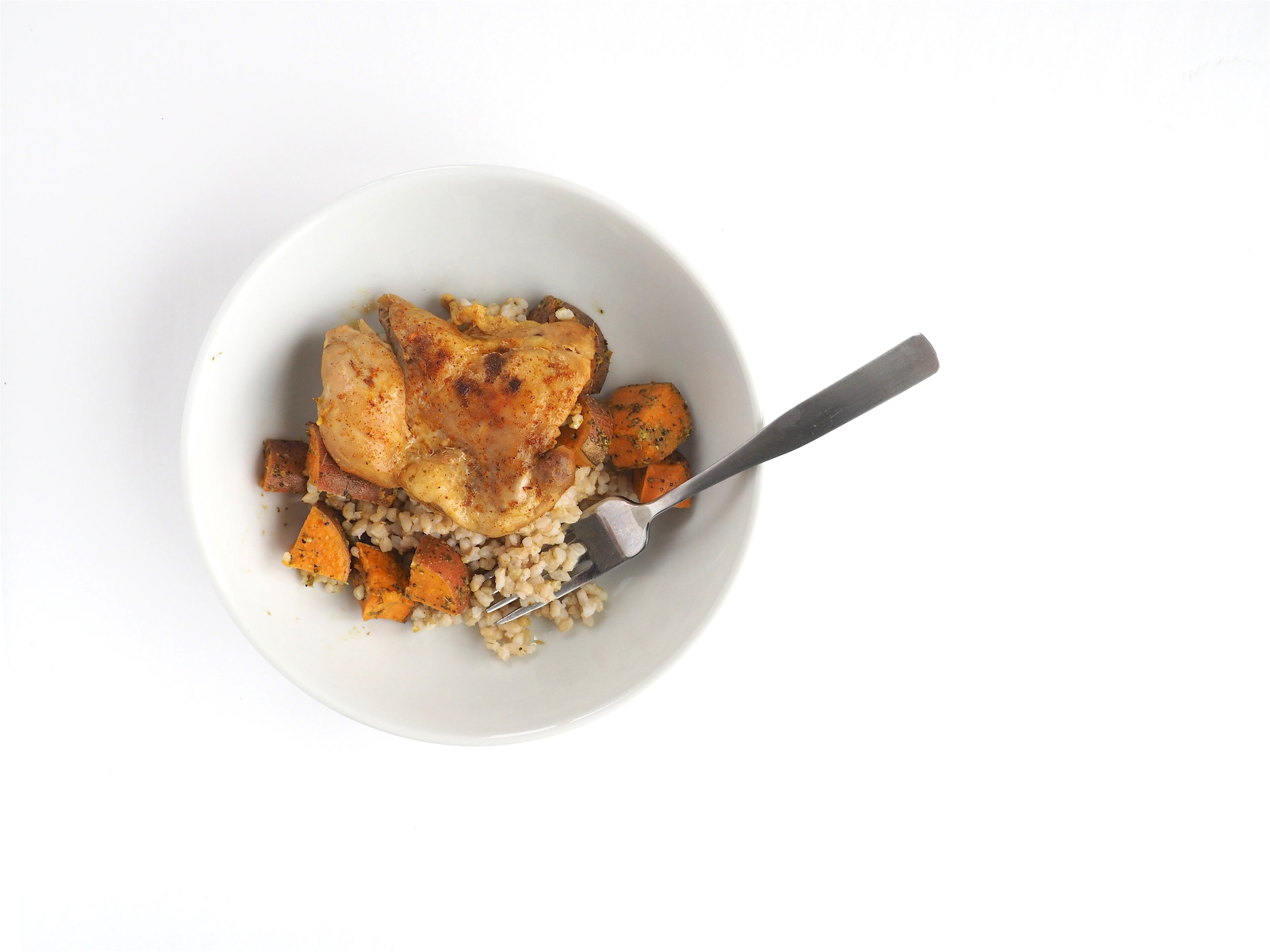 Tandoori Spiced Chicken and Brown Rice with Sweet Potato