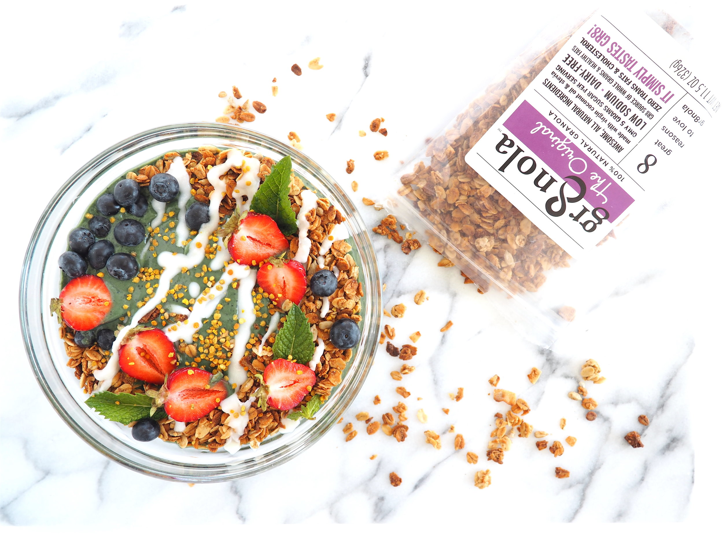 Good-For-You Smoothie Bowl with Gr8nola Granola