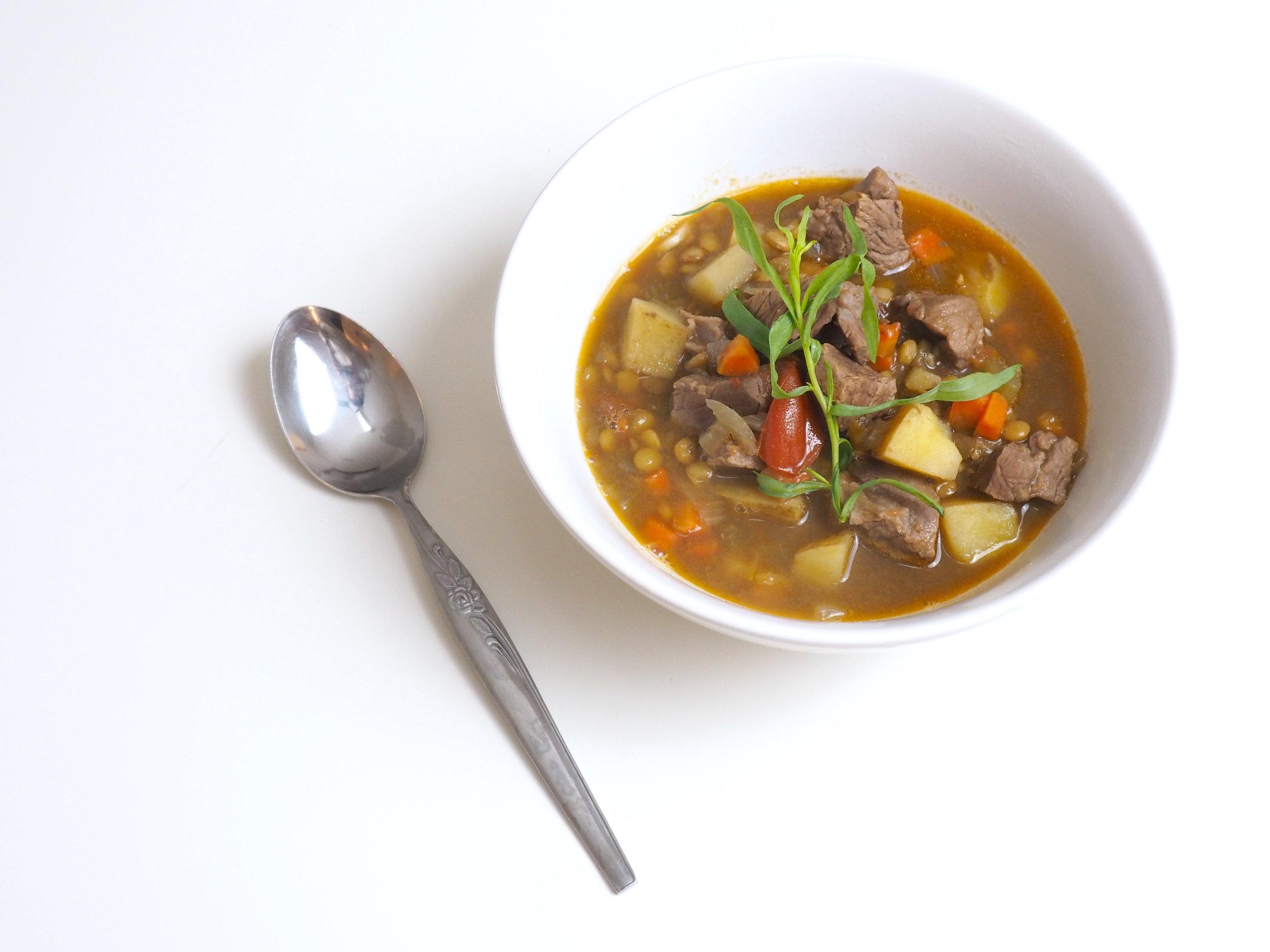 Lamb and Lentil Tarragon Stew