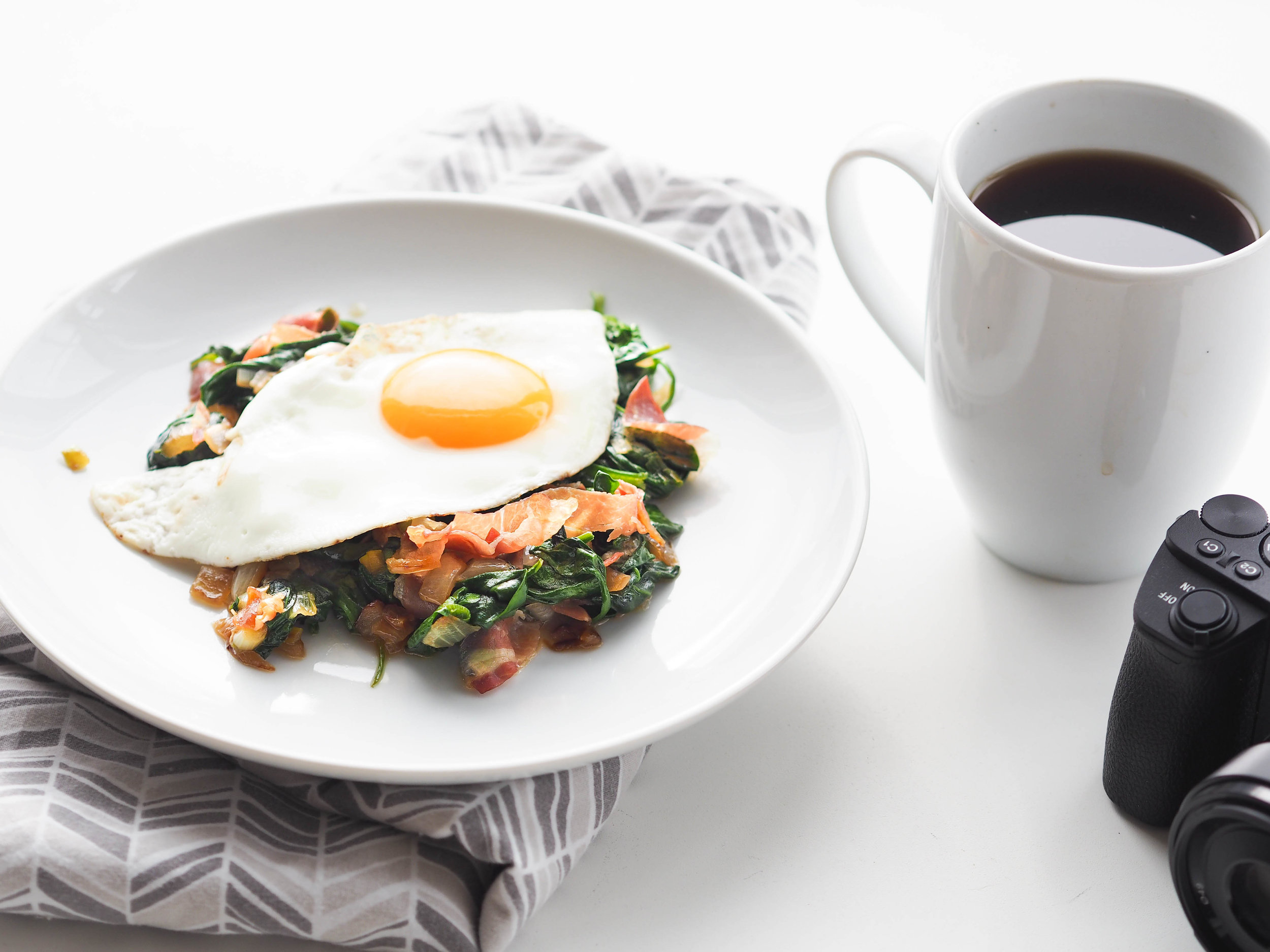 Sauteed Spinach and A Sunny Egg