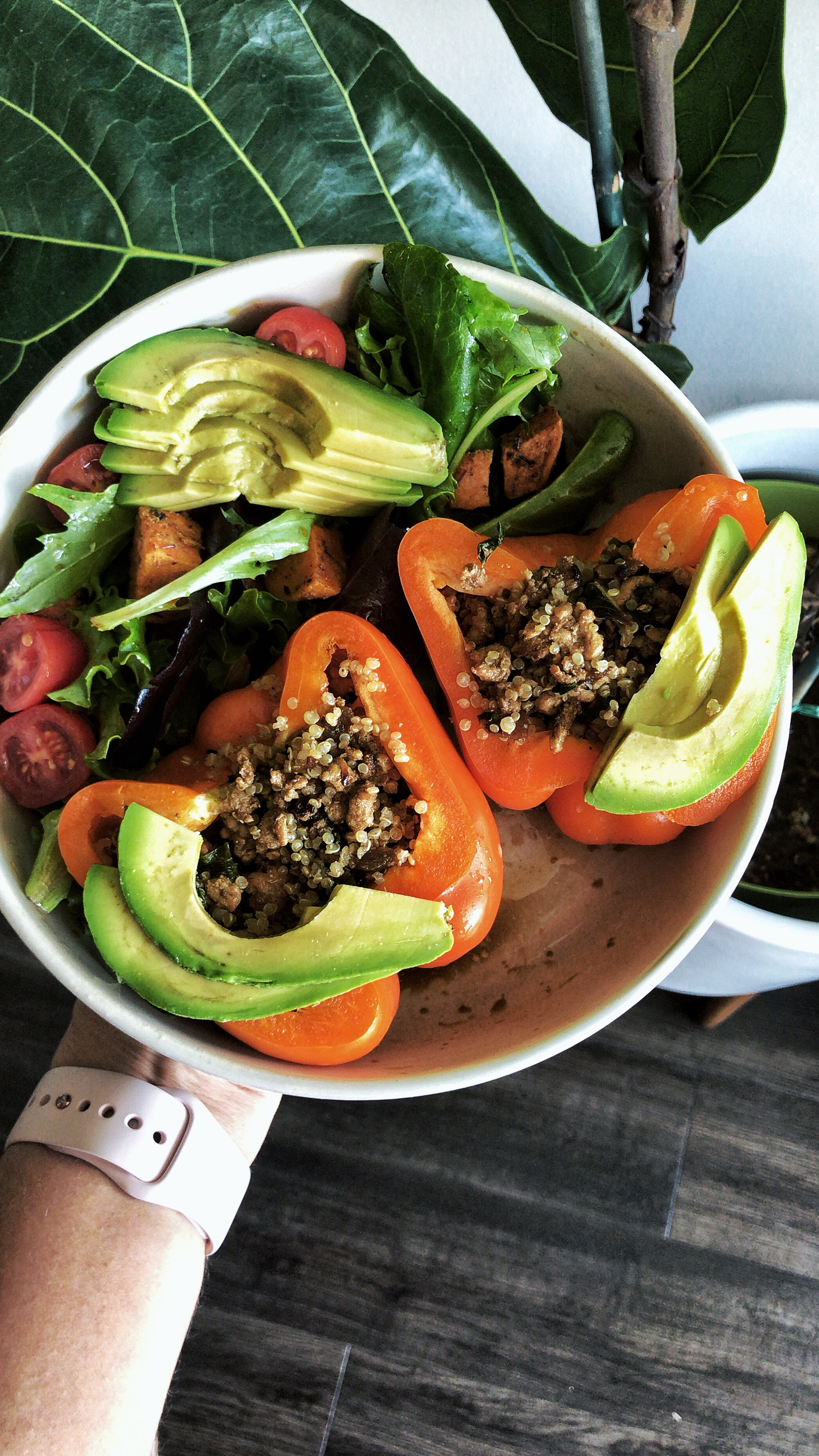 Burmese Chicken Mint Stuffed Bell Peppers1.jpg