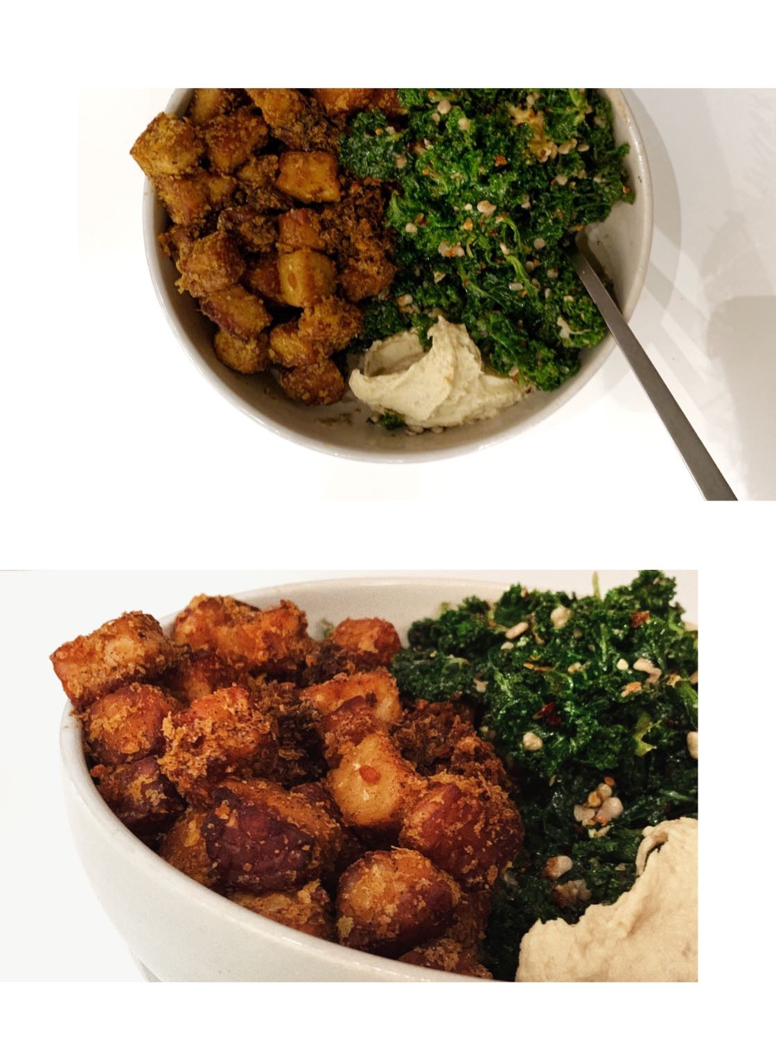 Kale Salad and %22Chicken%22 Nuggets 5.JPG