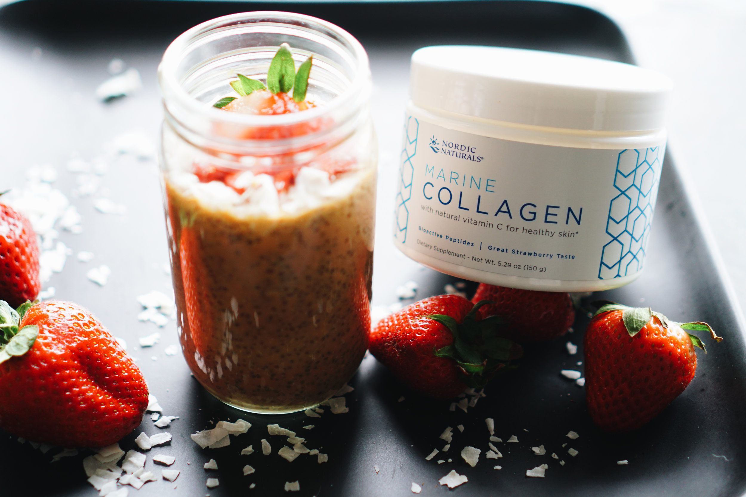 Nordic Naturals Collagen Strawberry Fields Collagen Chia Pudding  - healthy meals, gluten free, keto friendly, low carb - www.letsregale.com _ 4.jpg