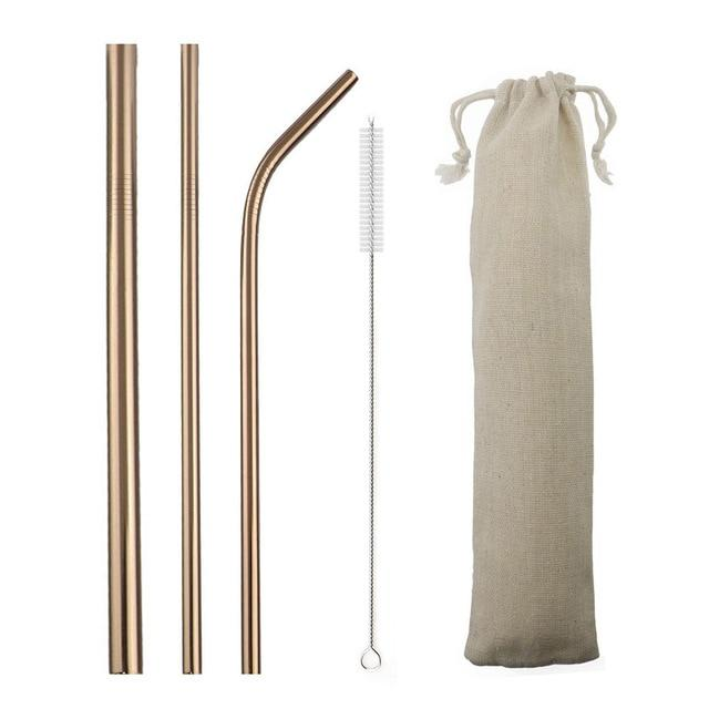 Eco-Friendly Stainless Steel Straws Set