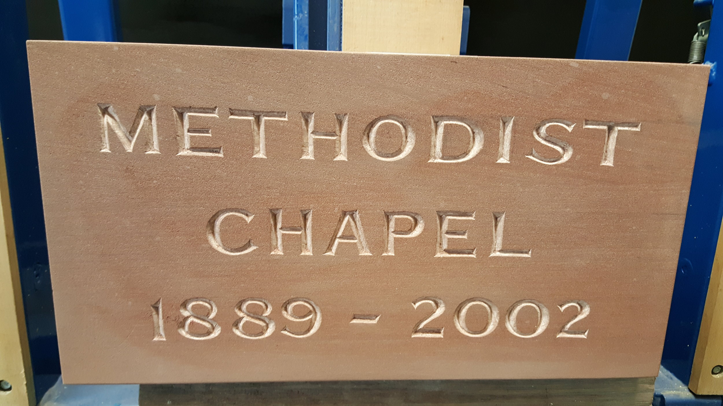 Hand-carved Chapel Foundation block