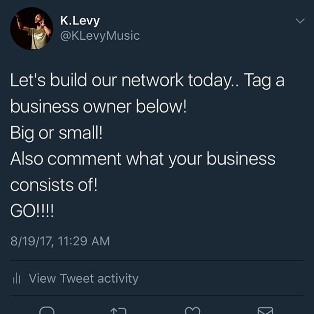 Let's build our network today.. Tag a business owner below! Big or small!  Also comment what your business consists of!  GO!!!!