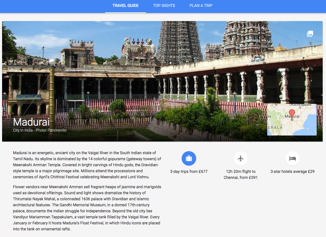 One of many destination guides written for Google Trips.