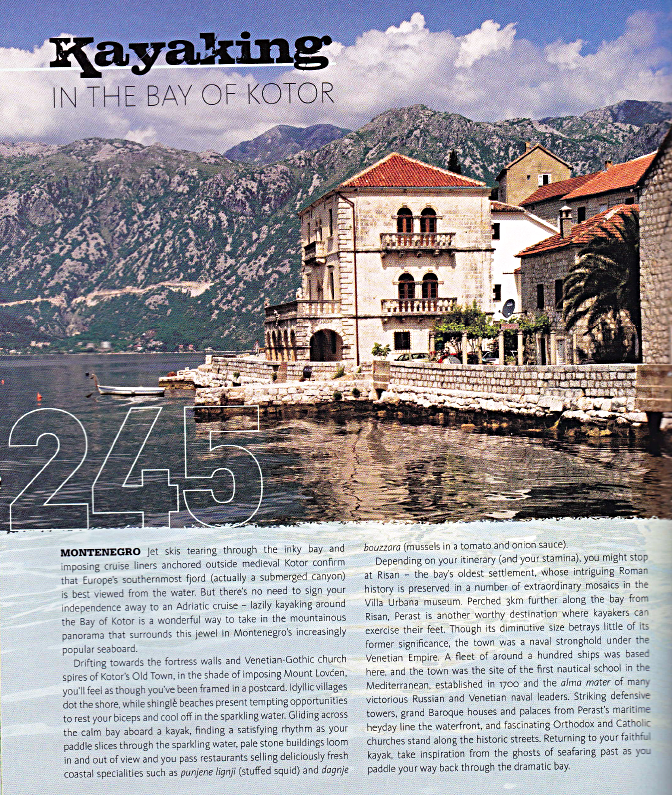 A piece on Montenegro for the Rough Guide title  Make the Most of Your Time on Earth