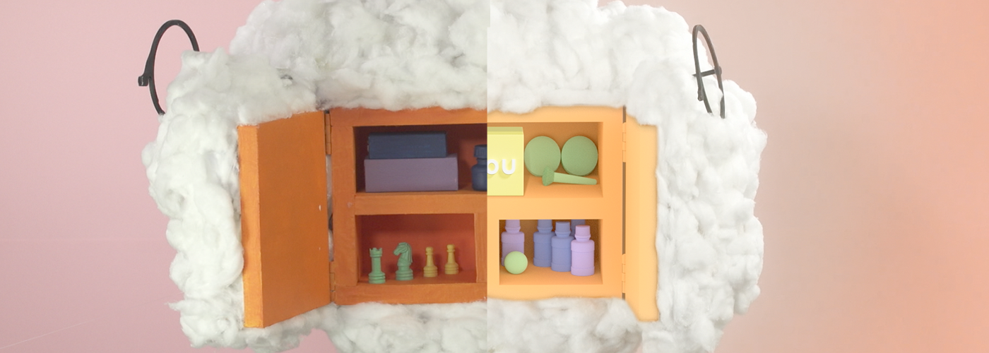"""We kept most of the cotton """"as is"""", but the box inside was recreated from scratch in 3D."""