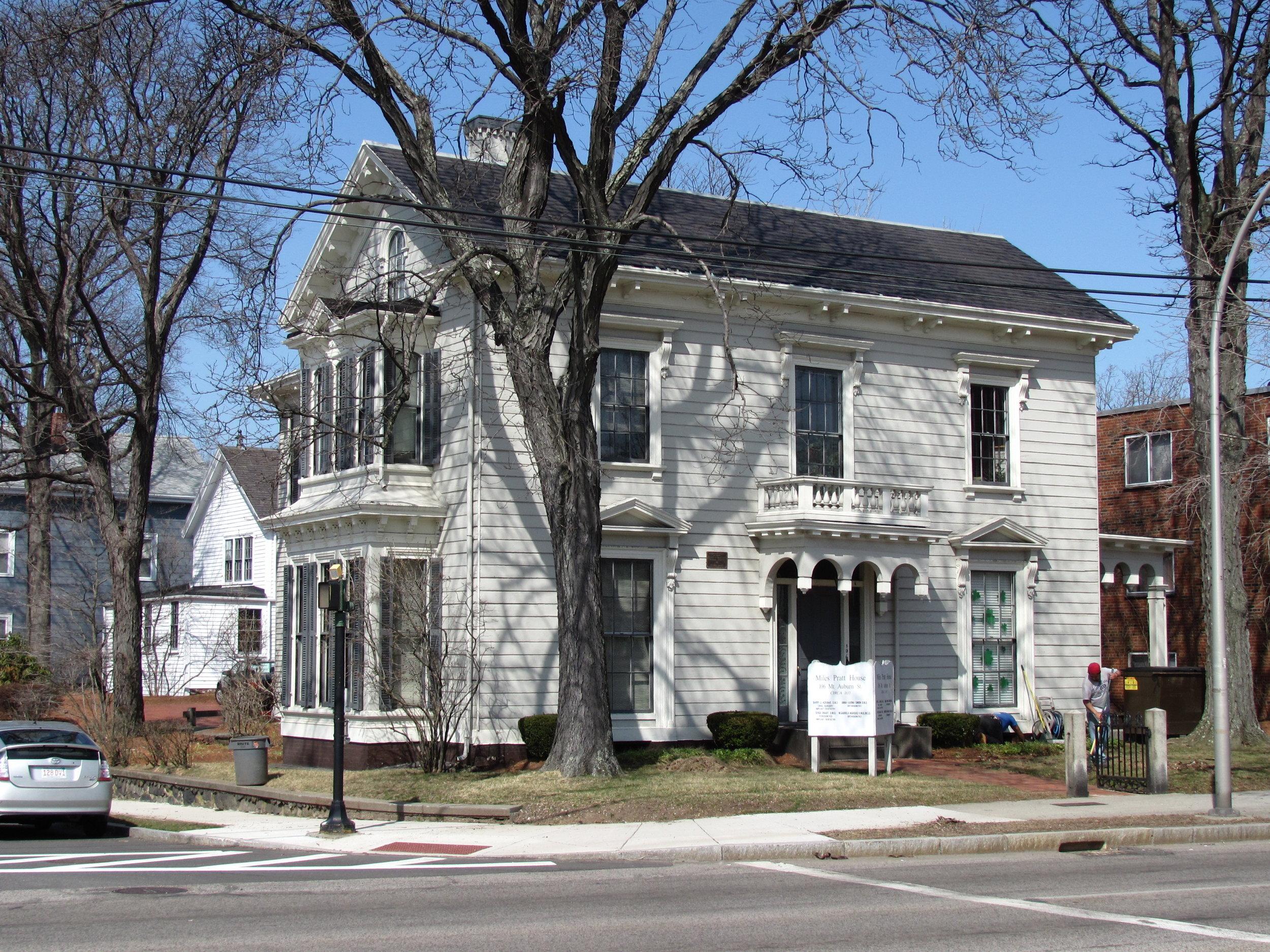 Miles Pratt House on Mount Auburn Street in Watertown