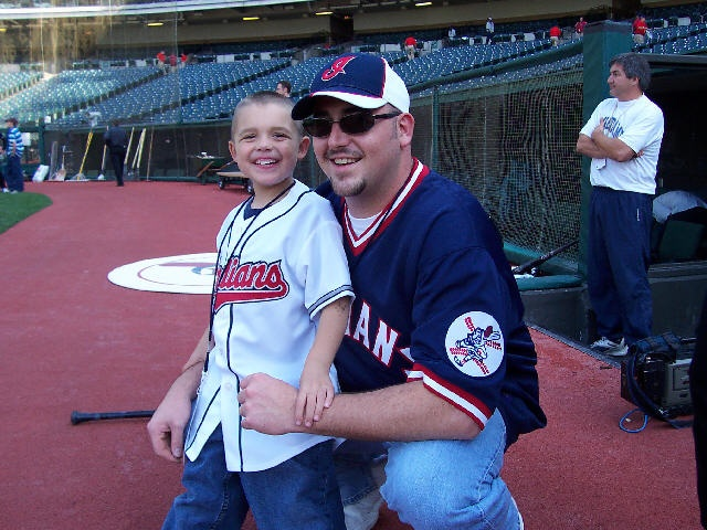 Andrew and Scott at the Cleveland Indians ballpark