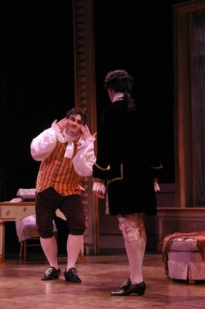 As Figaro in The Marriage of Figaro, Green Mountain Opera Festival 2009