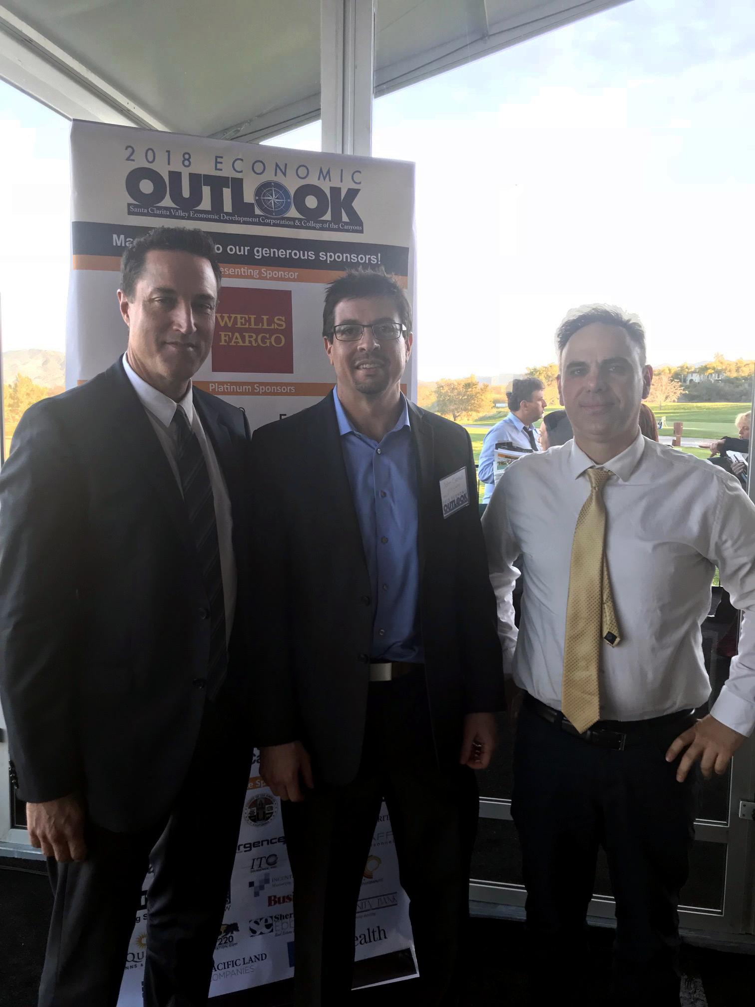 Senior Associate Paul Bellgraph, Executive Vice President John Cserkuti and Vice President Steve Body (left to right).