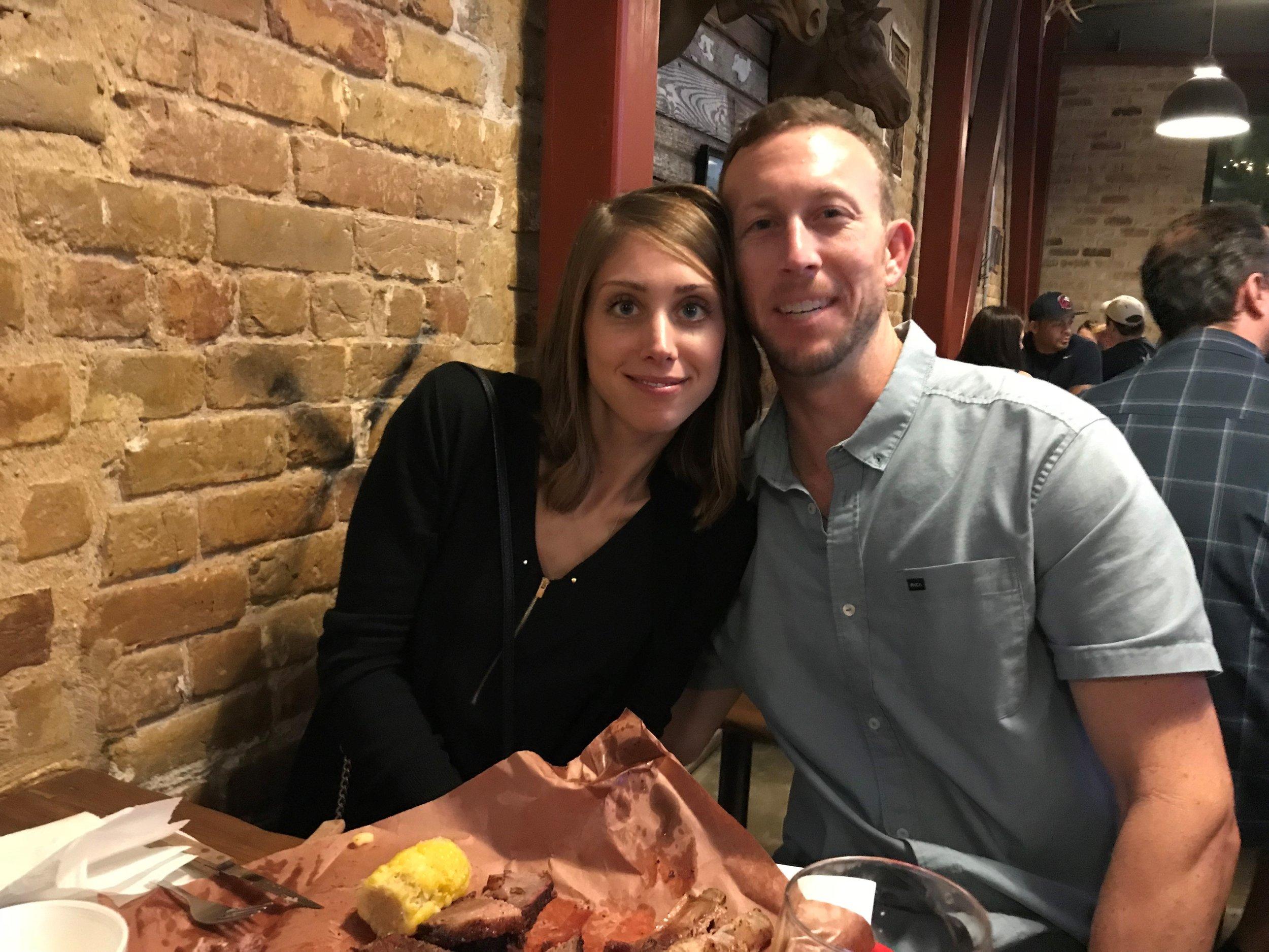 Senior Associate Justin Kuehn enjoying some local flavor with his wife, Christina.