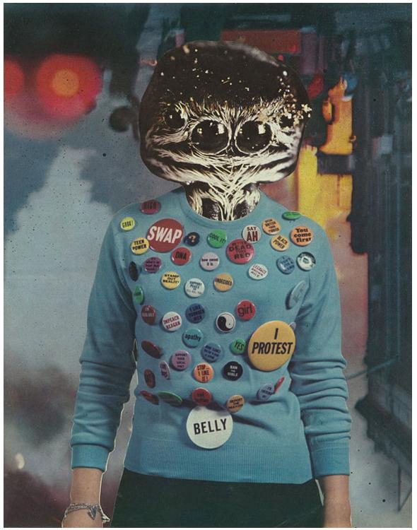 "Mumm-Ra (Analog Collage - 10"" x 13"" - 2017)"