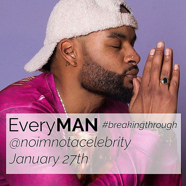 #breakingthrough  @noimnotacelebrity will be taking over our instagram tomorrow January 27th!  Join us as we come together in a conscious effort to tear own old society constructs & dispel toxic masculinity by sharing stories, performing acts of self love & kindness  Photo @tarikcarroll  #bodypositivity #diversity #bopowarrior #toxicmasculinity #selfcare #sundayfunday