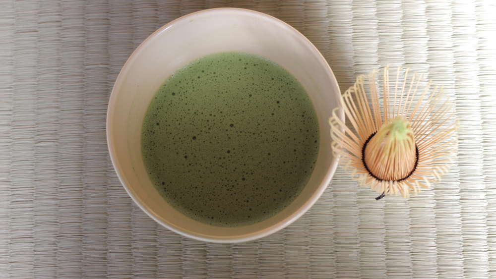 Take time to enjoy your frothy Matcha.