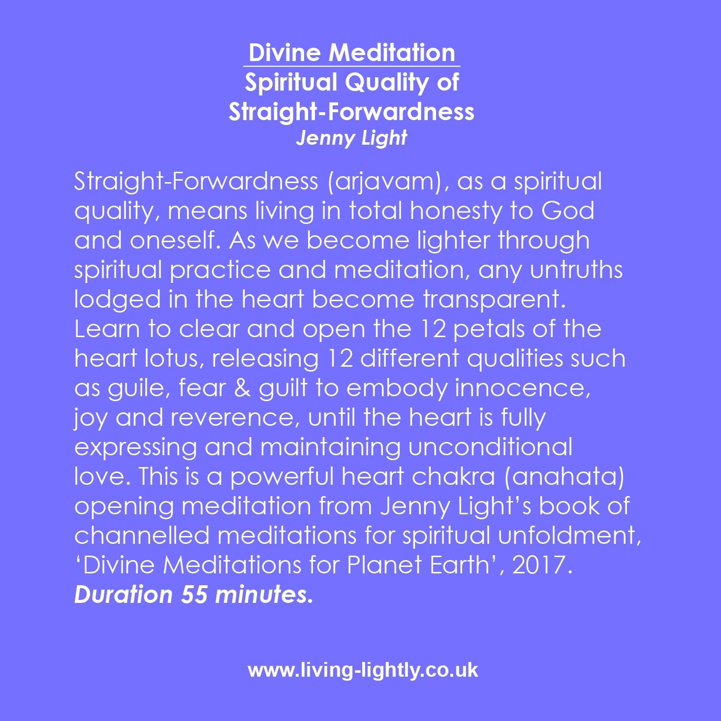 Meditation  CD/MP3 to accompany  'Divine Meditations. '  Cost £10 + (£2 P&P for CD)